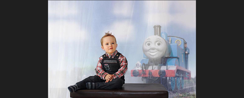 Enfant et train, concept garderie